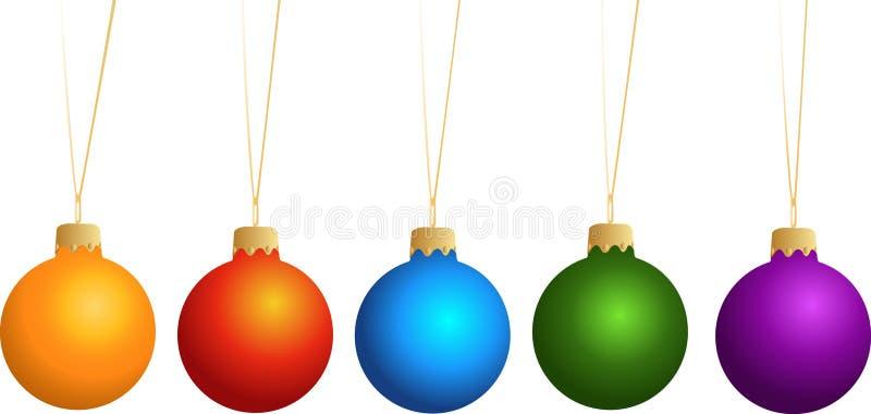 dekoracje nowy rok ilustracja wektor