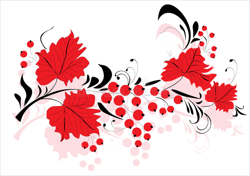 dekoracje owoców liście ilustracja wektor