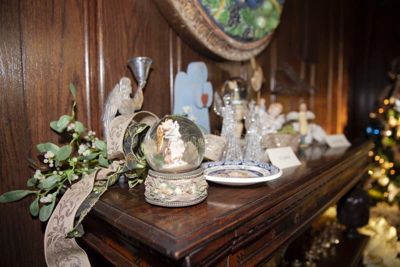 dekoracje ?wi?teczne ekologicznego drewna fotografia royalty free