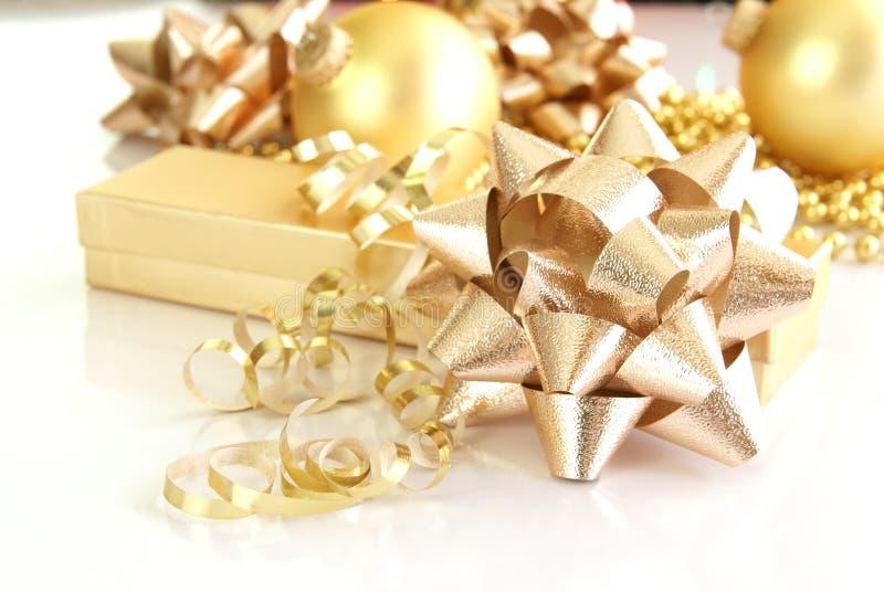 dekoracje złociste zdjęcia royalty free