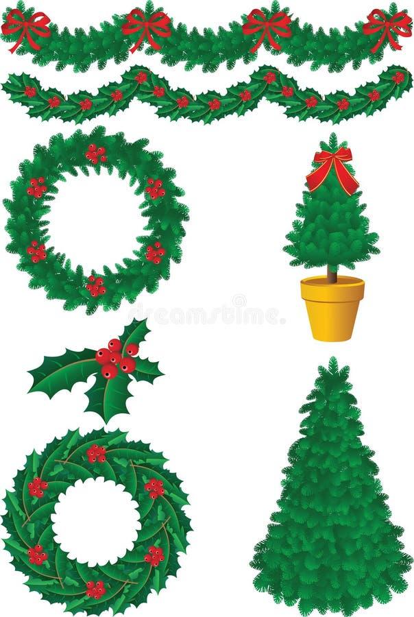 dekoracji świątecznej ilustracji