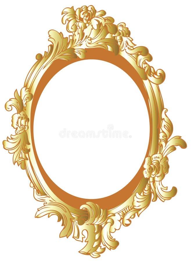 dekoracji ramowy złoto