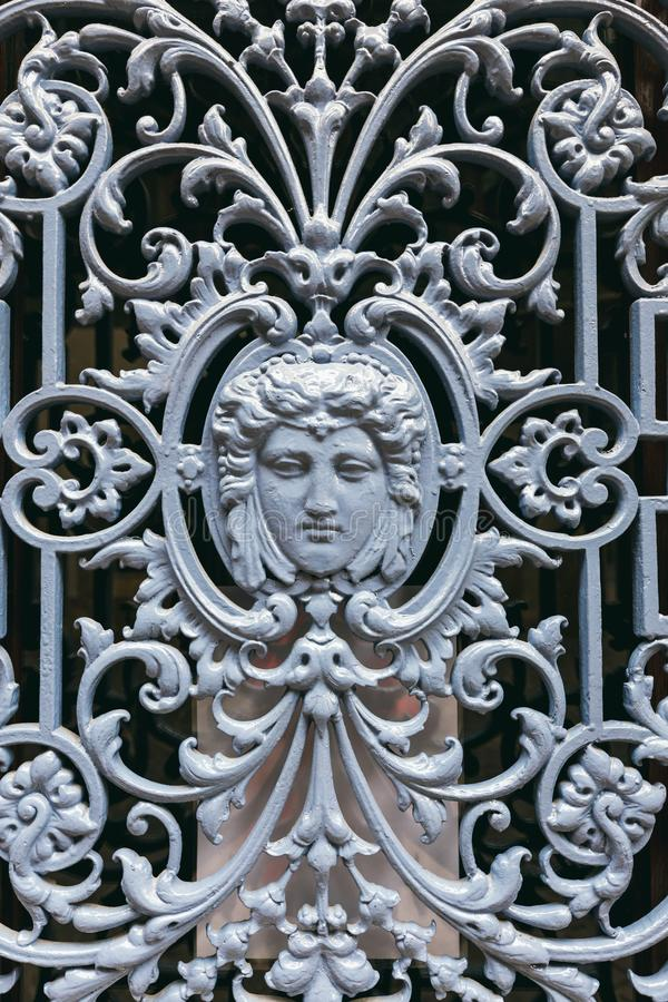 Dekoracyjna żelazo kratownica obraz stock