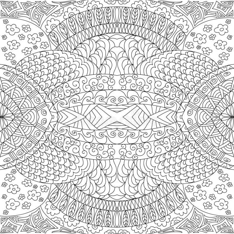 Dekoracyjna bezszwowa czarny i biały kolorystyki strona royalty ilustracja