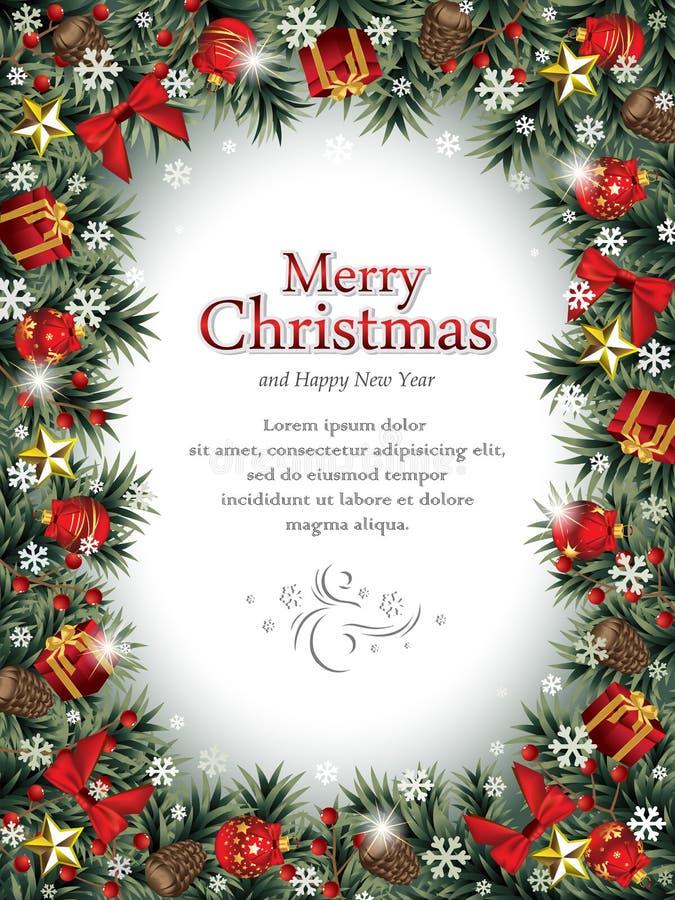 dekoracyjna Boże Narodzenie rama royalty ilustracja