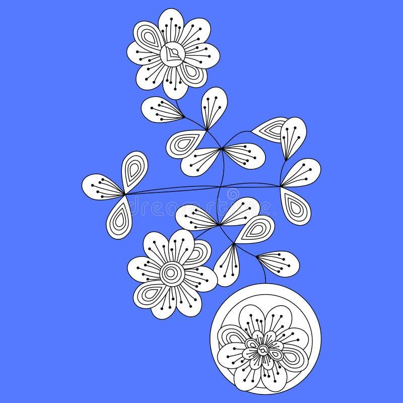 Dekoracyjna centrala - europejska tradycyjna ludowa kwiecista postać w kubisty stylu ilustracji