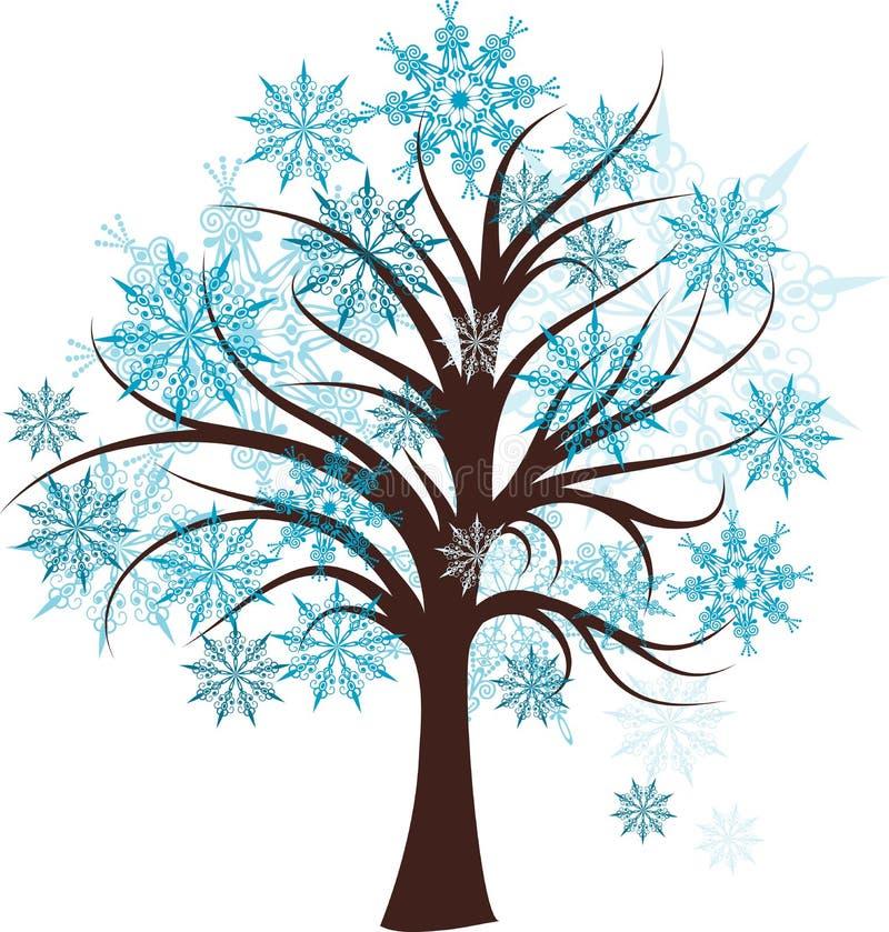dekoracyjna drzewna zima ilustracji