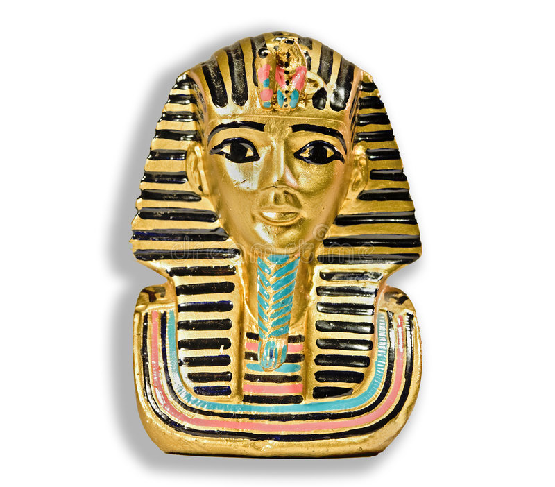 dekoracyjna egipska mała statua zdjęcia royalty free