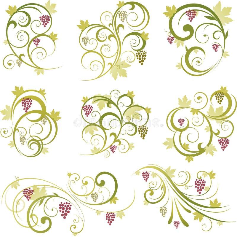 dekoracyjna gronowa ilustracja ilustracja wektor
