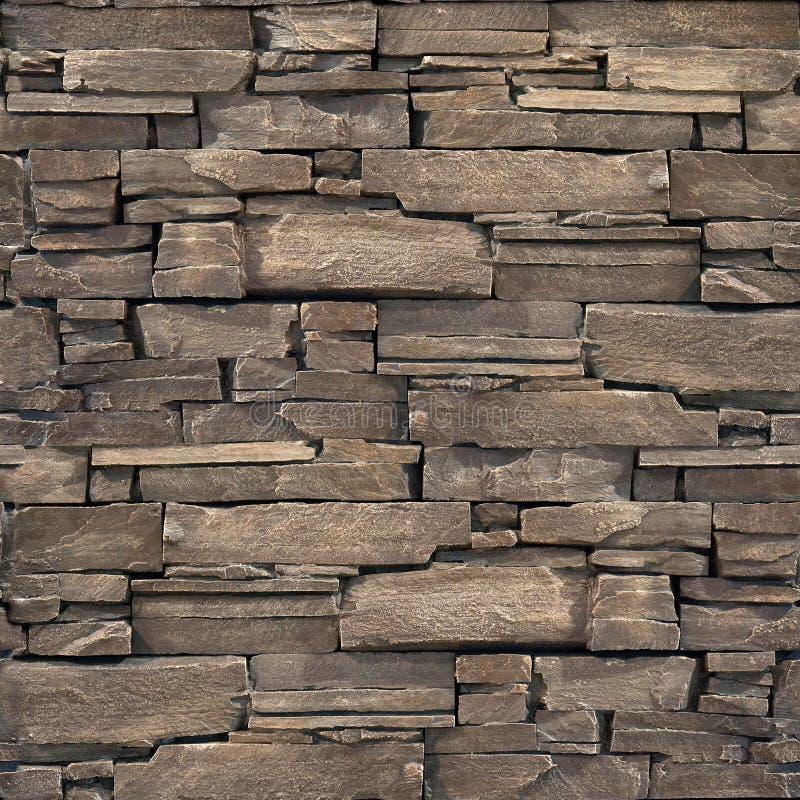 Dekoracyjna kamienna ściana kamienna tekstura - bezszwowy tło - obraz royalty free