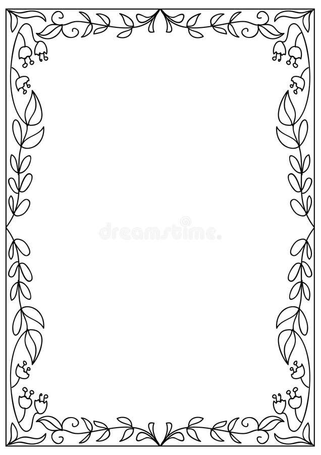 Dekoracyjna kwadrata a4 formata kolorystyki strony rama odizolowywająca na bielu ilustracji