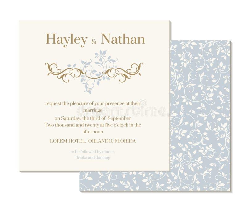 Dekoracyjna kwiecista granica i semmless wzór tła eleganci serc zaproszenia romantycznego symbolu ciepły ślub ilustracji