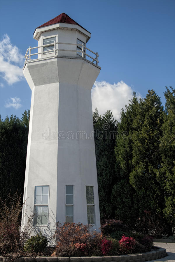 Dekoracyjna latarnia morska Decatur Alabama obraz royalty free