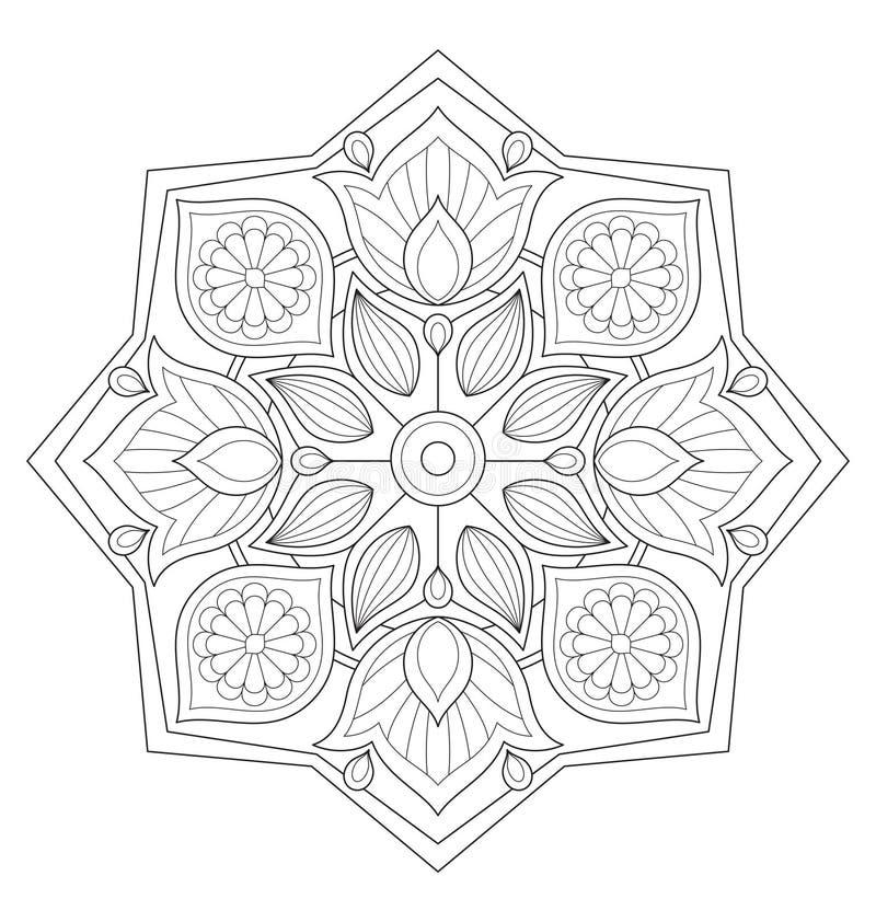 Dekoracyjna mandala ilustracja ilustracji