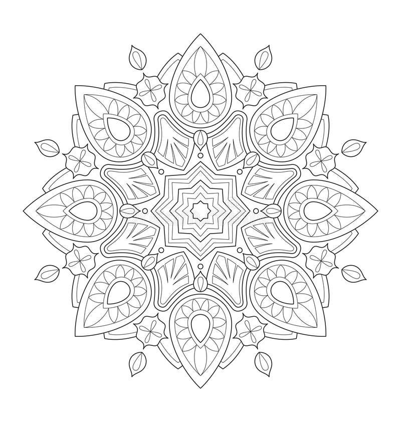 Dekoracyjna mandala ilustracja ilustracja wektor