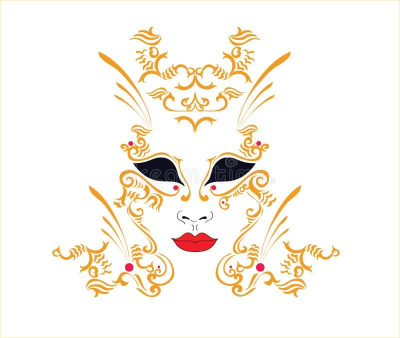 dekoracyjna maska ilustracja wektor