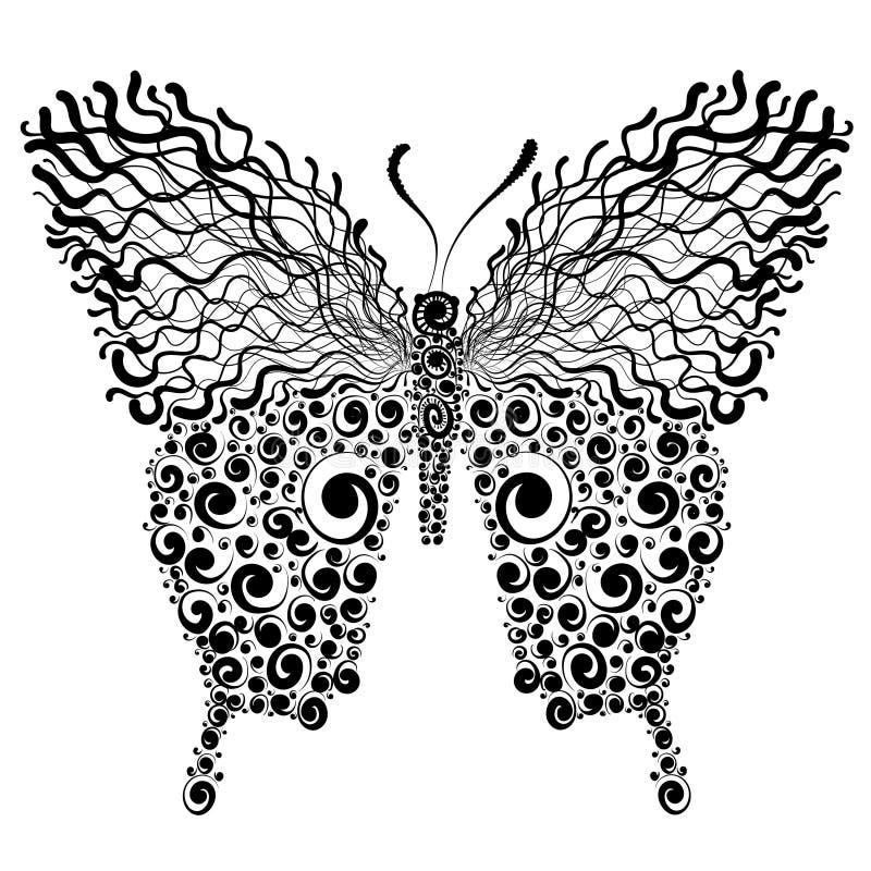 Dekoracyjna motylia ilustracja royalty ilustracja