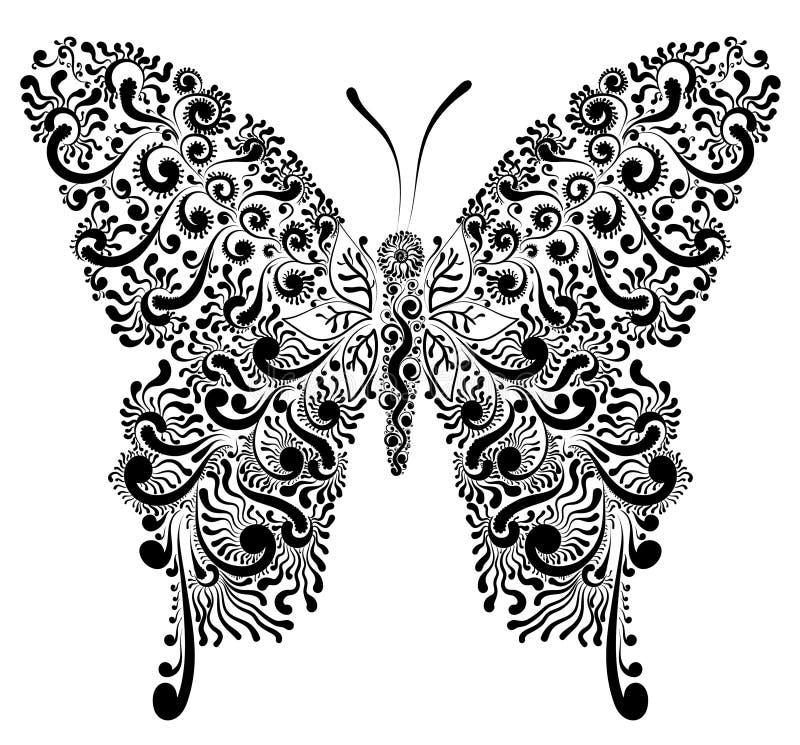 Dekoracyjna motylia ilustracja ilustracja wektor