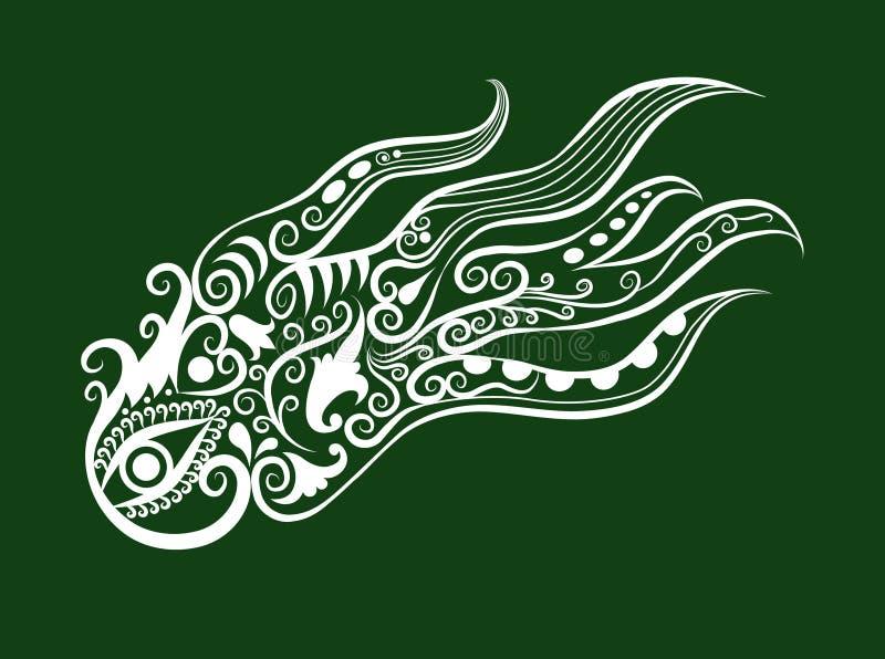 dekoracyjna ośmiornica royalty ilustracja