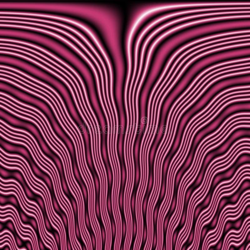 Dekoracyjna płytka bezszwowy wzór z abstrakcjonistycznymi falistymi kształtami obrazy royalty free