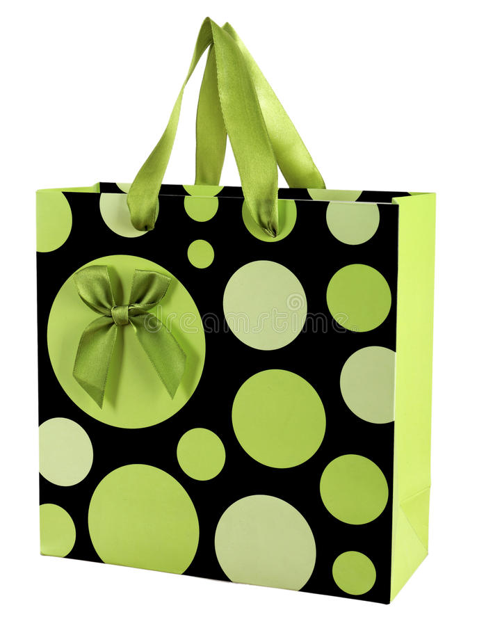 Dekoracyjna papierowa prezent torba obraz stock