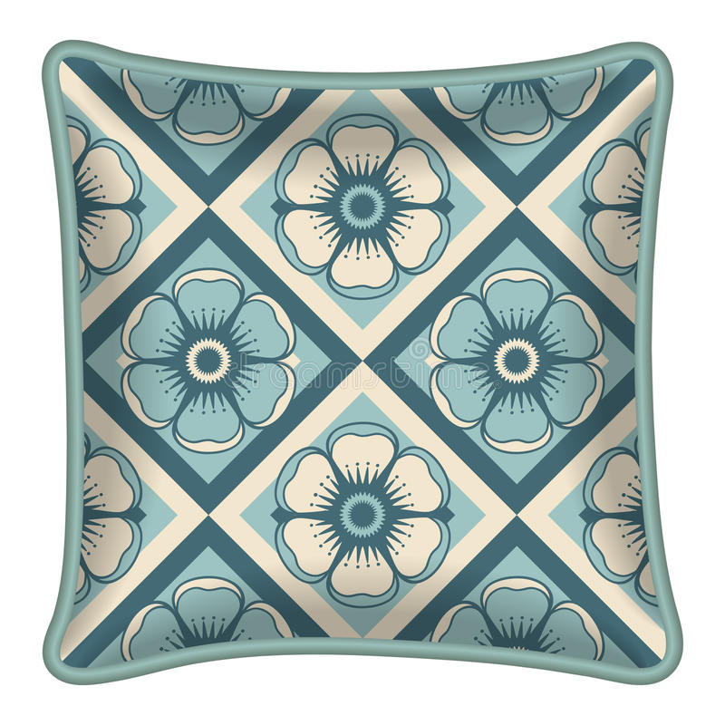 Dekoracyjna poduszka ilustracja wektor
