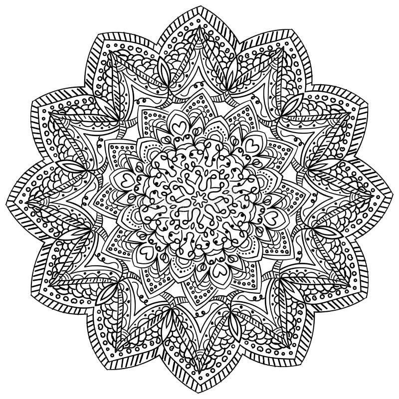 Dekoracyjna ręka rysujący mandala ilustracja wektor