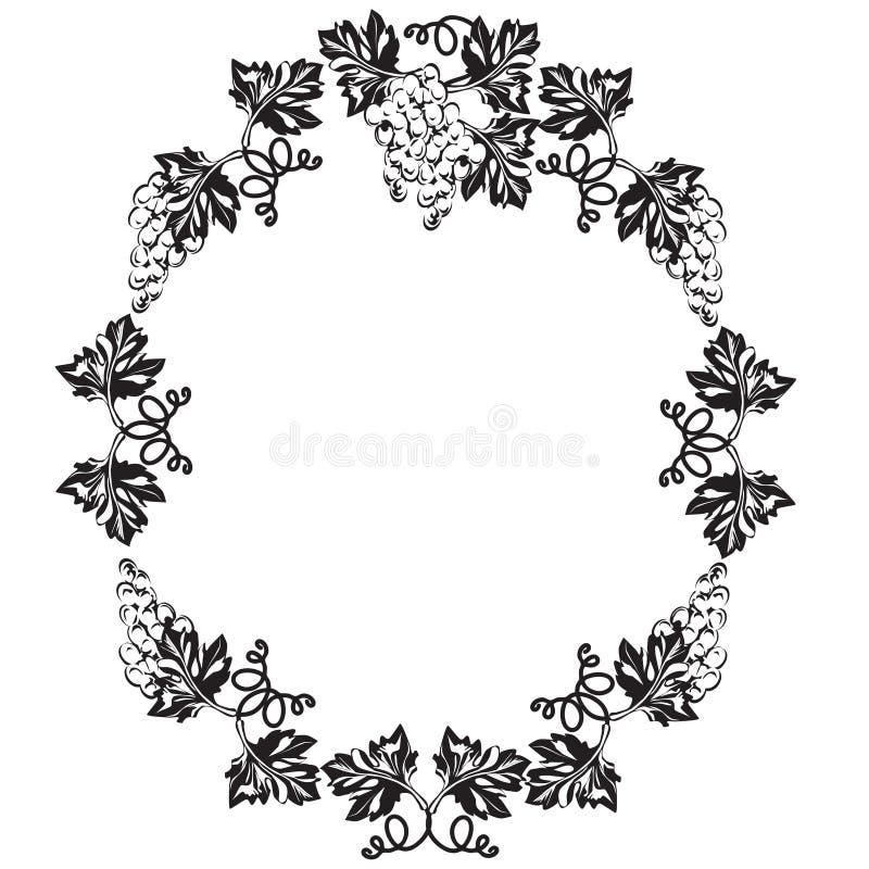 Dekoracyjna rama, rama dla teksta czarny i biały ilustracji