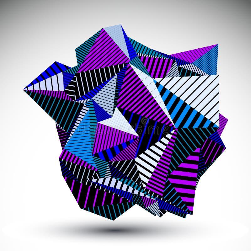 Dekoracyjna skomplikowana niezwykła eps8 postać budująca od tria ilustracji