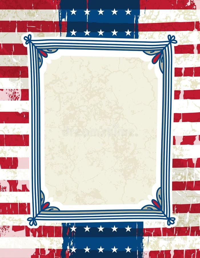 dekoracyjna tło etykietka jeden usa ilustracji
