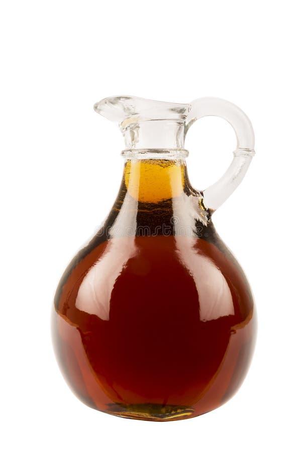Dekoracyjna tradycyjna klonowego syropu butelka od Kanada fotografia stock