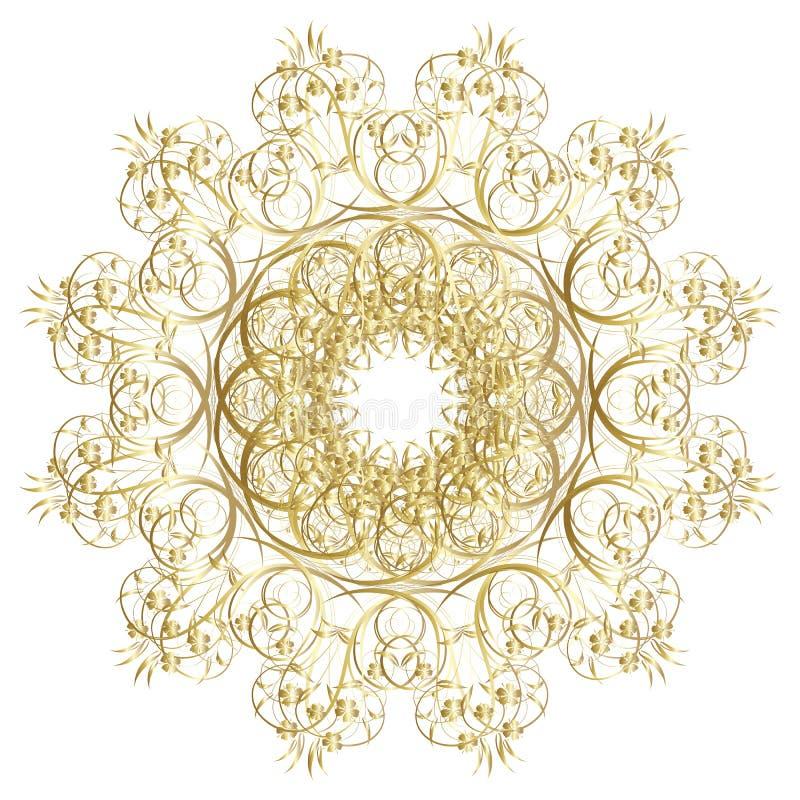 Dekoracyjna złoto rama ilustracja wektor