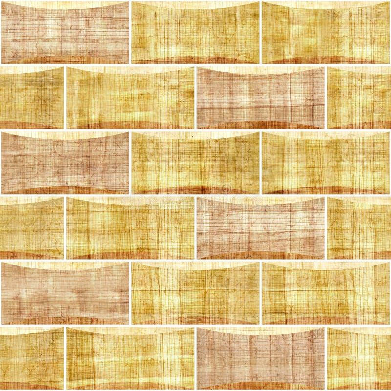 Dekoracyjne cegły Wewnętrznej ściany dekoracja - papirusowa tekstura - ilustracja wektor