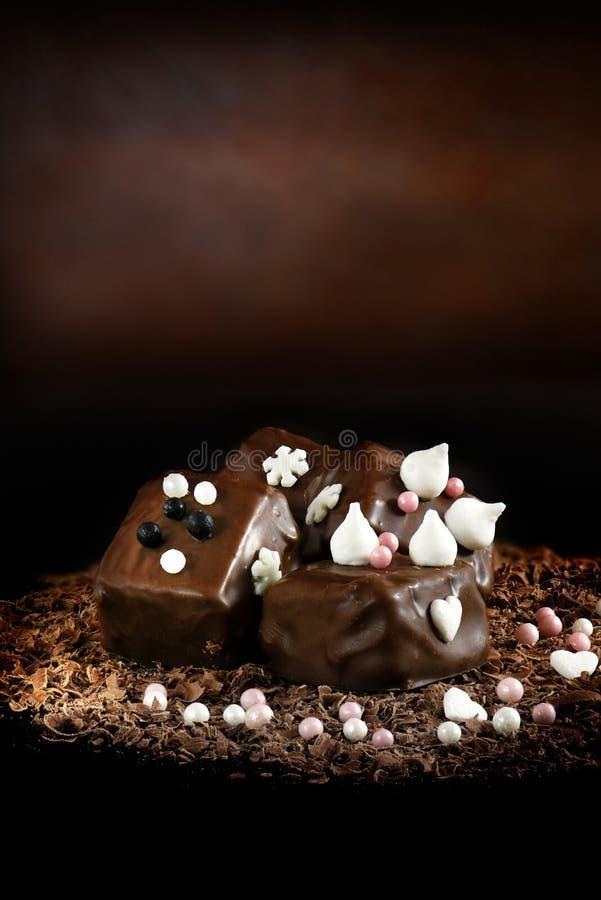 Dekoracyjne cukierek czekolady II fotografia stock