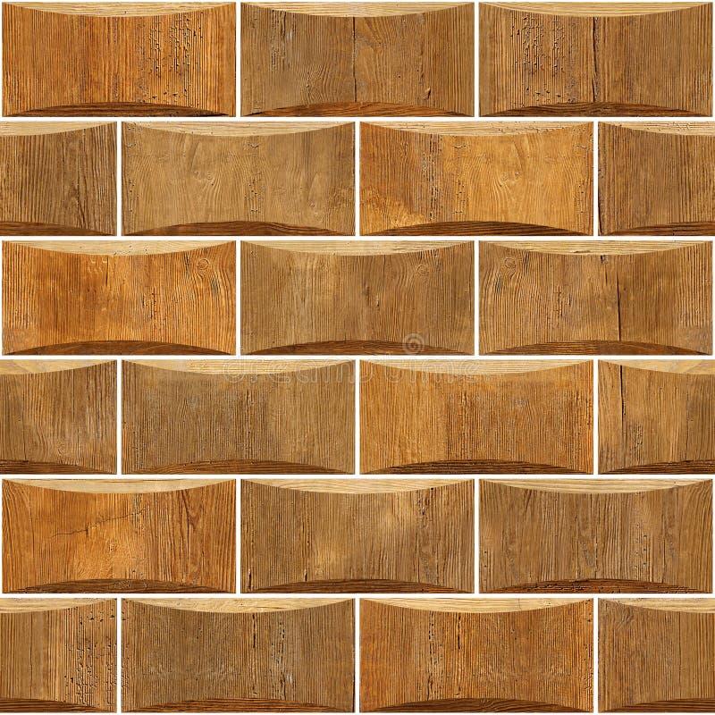 Dekoracyjne drewniane cegły - Wewnętrznej ściany dekoracja ilustracja wektor