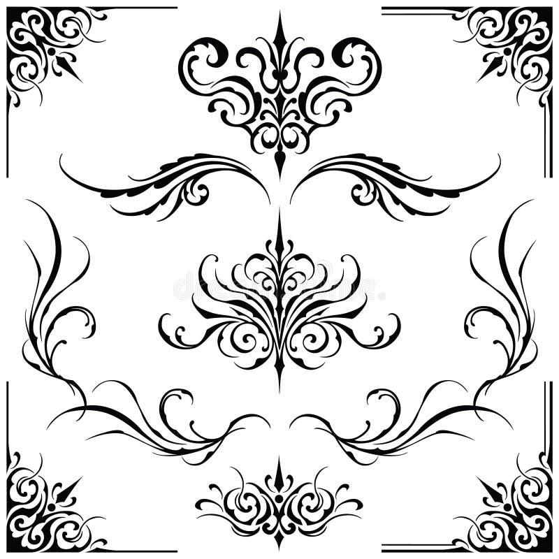 Dekoracyjne element ramy ilustracja wektor