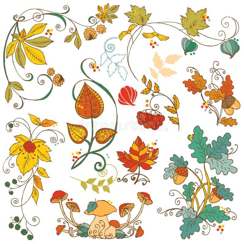 Dekoracyjne jesieni gałąź ilustracja wektor