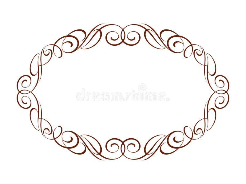 Dekoracyjne retro ramy również zwrócić corel ilustracji wektora brąz ilustracji
