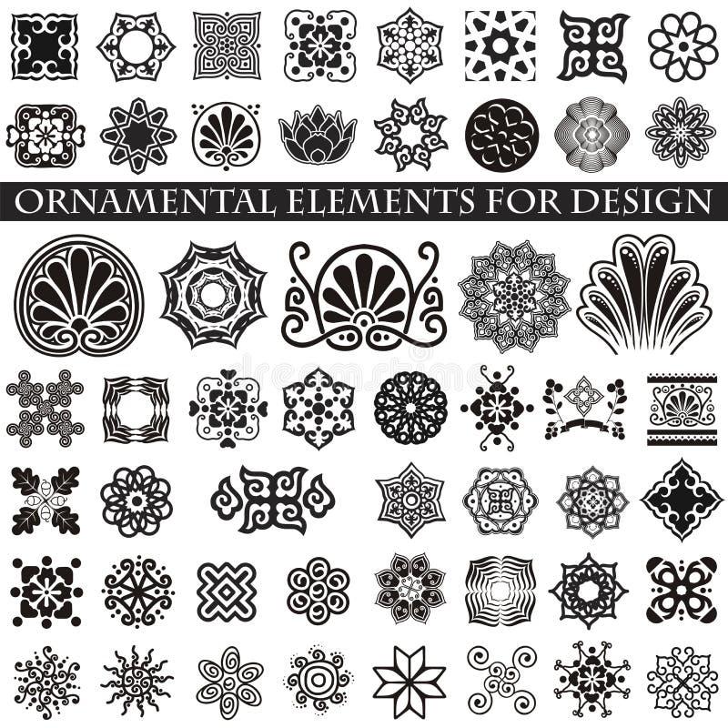 Dekoracyjne rzeczy dekorować twój pracę royalty ilustracja
