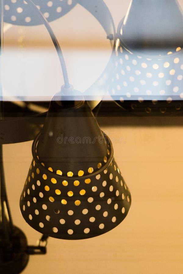 Dekoracyjne stylowe drucik żarówki zdjęcia stock