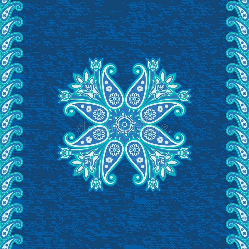 Dekoracyjny etniczny ornament ilustracja wektor