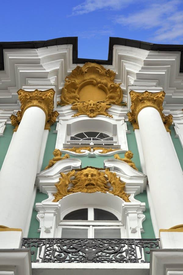 Dekoracyjnego Pałac Petersburg Reliefowa St Zima Zdjęcia Royalty Free