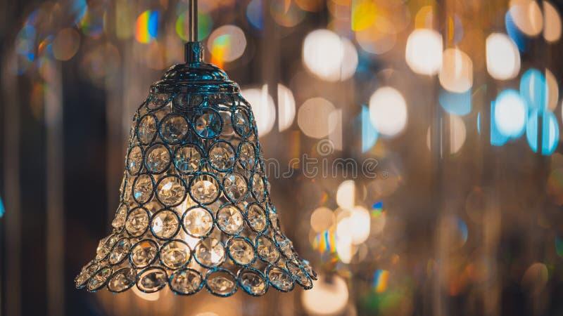 Dekoracyjnego rocznika świecznika Krystaliczny oświetlenie zdjęcie stock