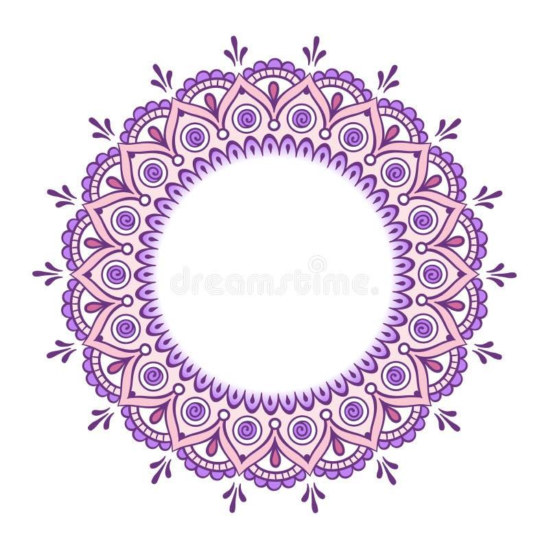 Dekoracyjnej Indiańskiej round koronki mandala ozdobny wektor ilustracja wektor