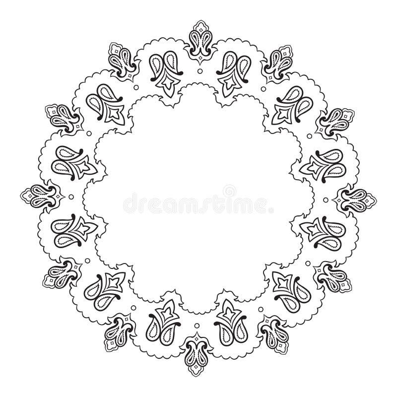Dekoracyjnej Indiańskiej round koronki mandala ozdobny wektor ilustracji
