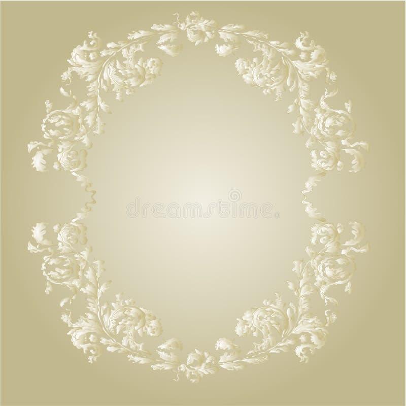 Dekoracyjnej round ramy rocznika ornamentacyjny kwiecisty wektor ilustracja wektor