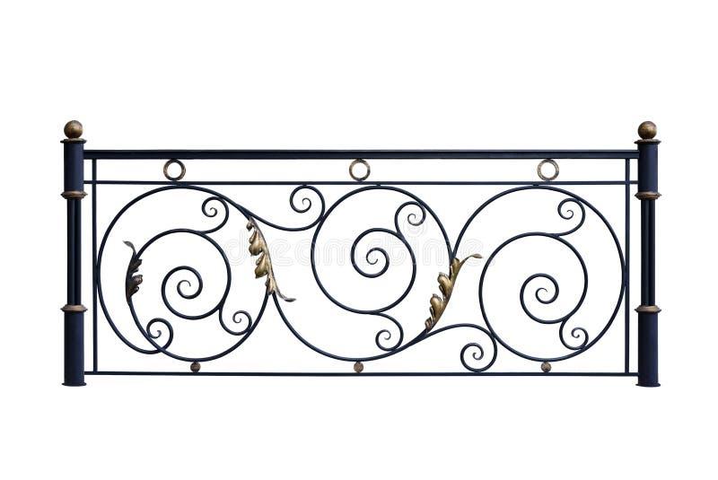 Dekoracyjni żelazni balasy, ogrodzenie obrazy stock