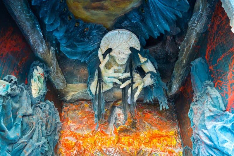 Dekoracyjni barwiący charaktery horrory i straszne opowieści zdjęcie stock