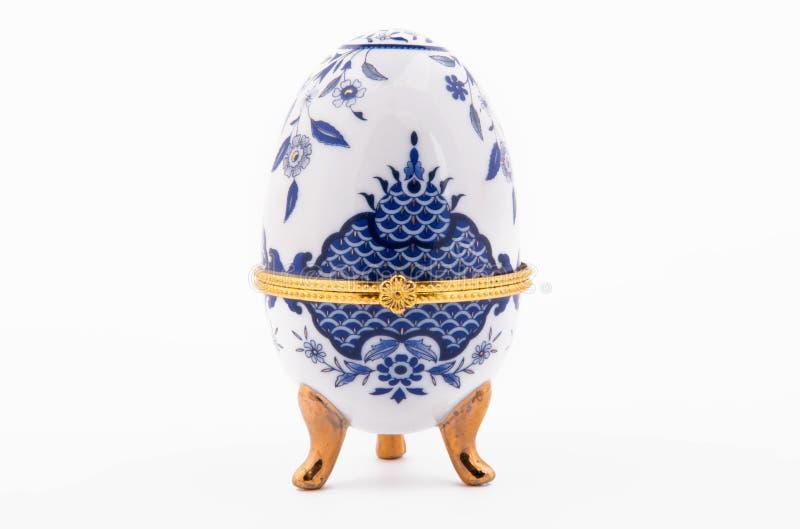 Dekoracyjni ceramiczni Faberge jajka zdjęcie royalty free