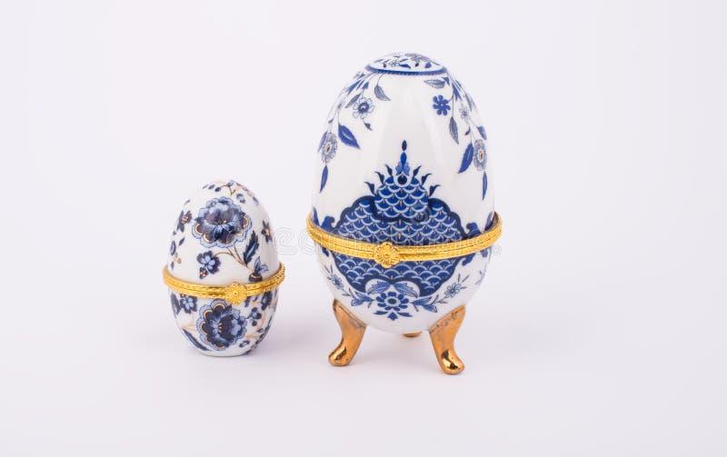 Dekoracyjni ceramiczni Faberge jajka fotografia royalty free